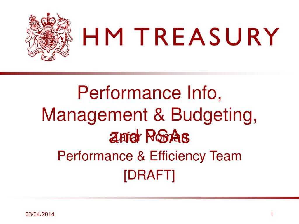 performance info management budgeting and psas l.