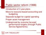 public sector reform 1998