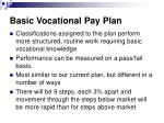 basic vocational pay plan