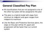 general classified pay plan