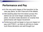 performance and pay