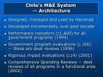 chile s m e system architecture