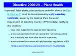 directive 2000 29 plant health42