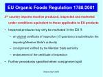 eu organic foods regulation 1788 2001