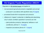 eu organic foods regulation 2092 914