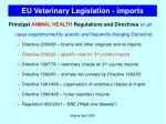 eu veterinary legislation imports23