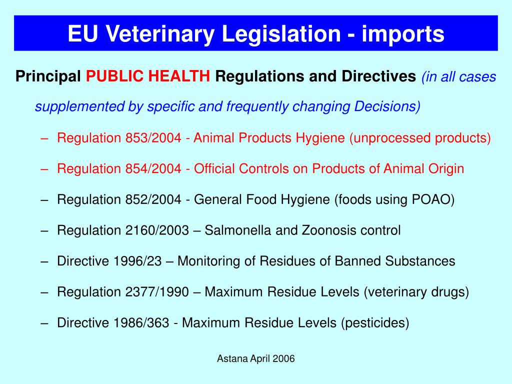 Ppt European Food Legislation Powerpoint Presentation