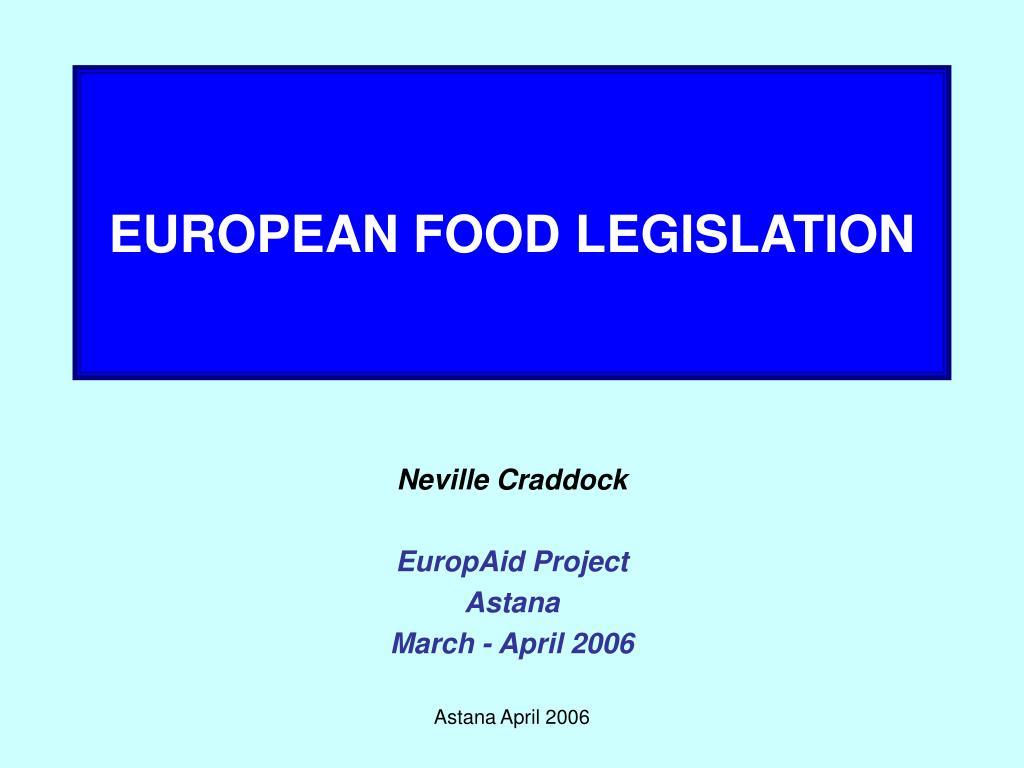 european food legislation l.