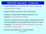 usa nop standards producers