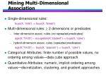 mining multi dimensional association
