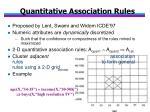 quantitative association rules
