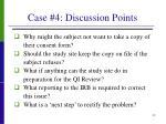 case 4 discussion points