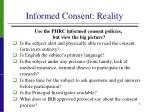 informed consent reality