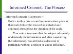 informed consent the process
