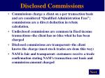 disclosed commissions