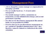 management fees