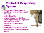 control of respiratory system