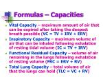 formulas capacities