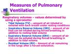 measures of pulmonary ventilation