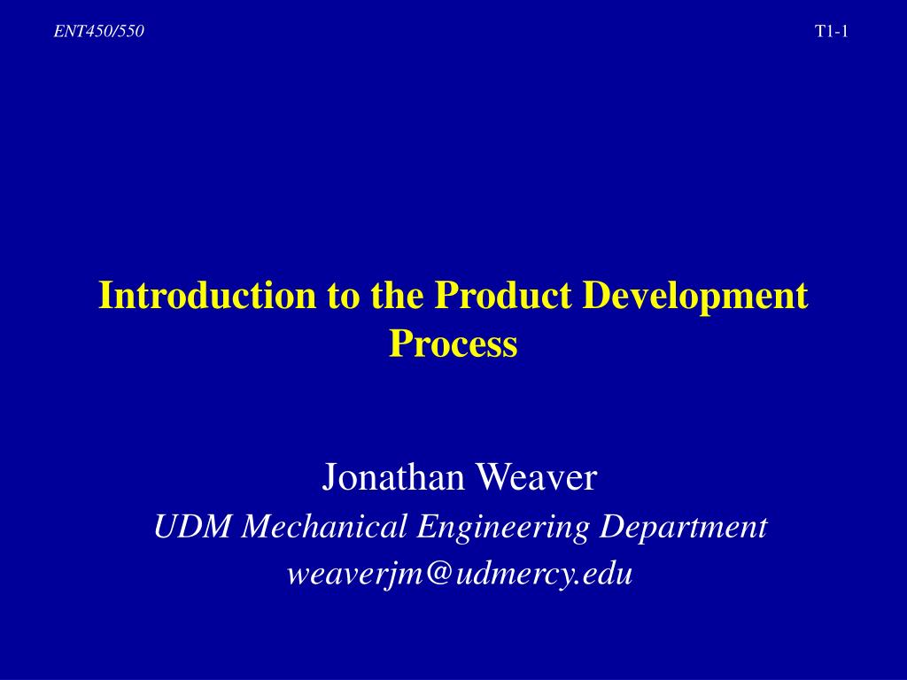 introduction to the product development process l.