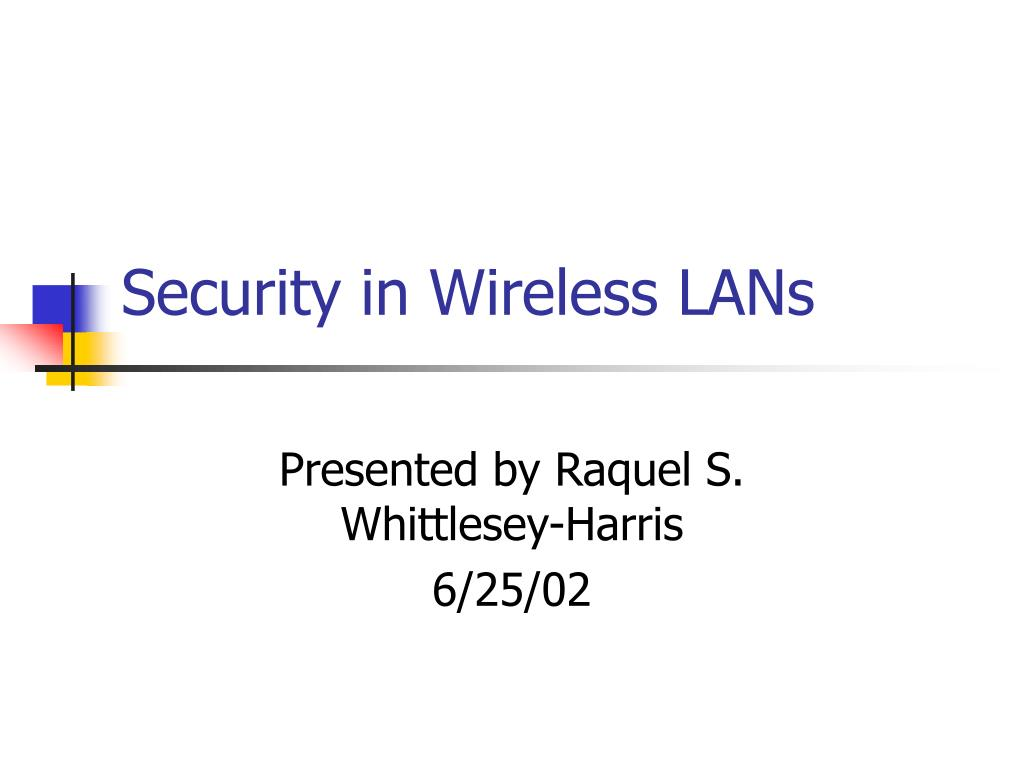 security in wireless lans l.