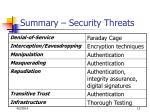 summary security threats
