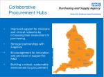 collaborative procurement hubs