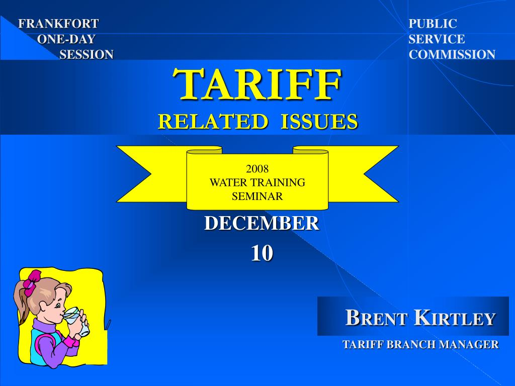 tariff related issues l.