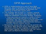 gpir approach