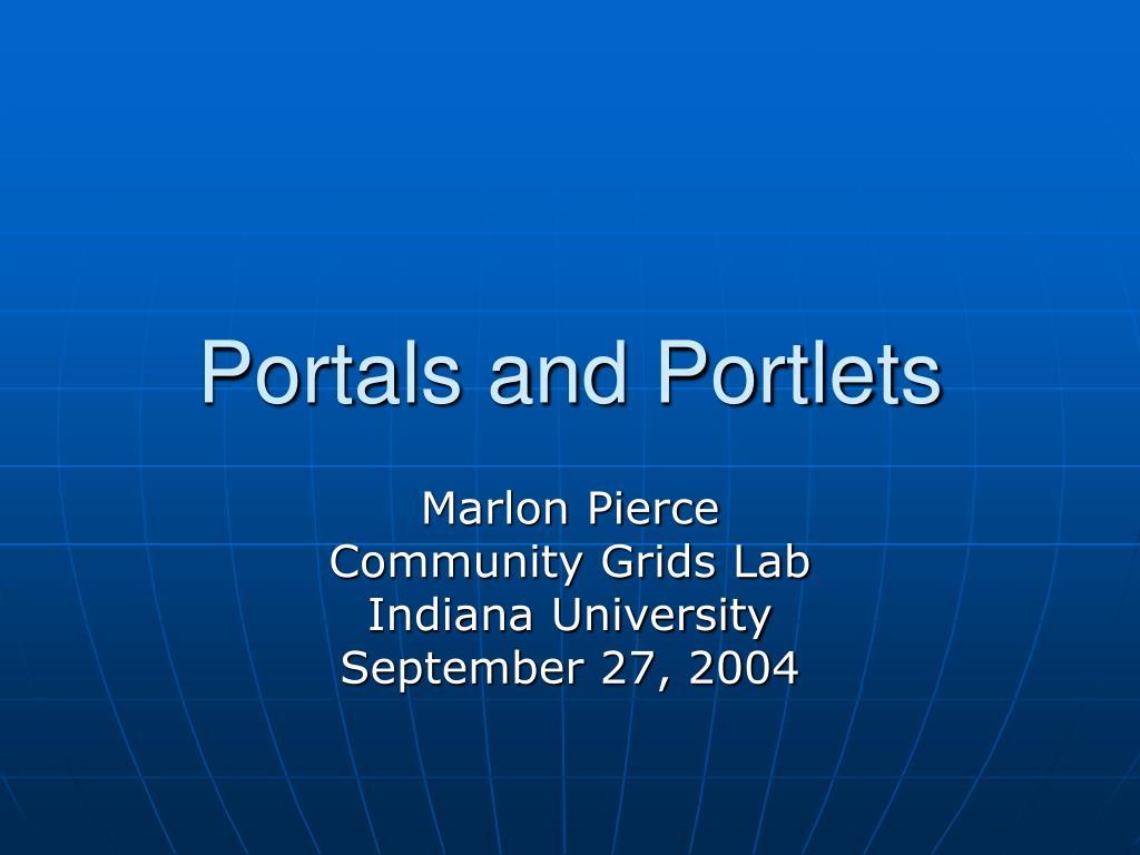 portals and portlets l.