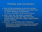 portlets and containers