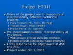 project et011