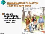 guidelines what to do if you think you have sars29