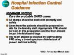 hospital infection control guidance15
