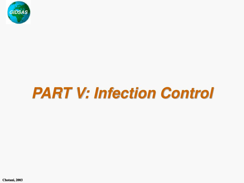 part v infection control l.