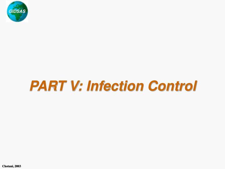 part v infection control n.