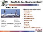 does model based development scale