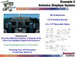 example 2 avionics displays system