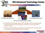 rci advanced technology center