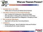 what are theorem provers