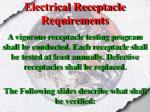 electrical receptacle requirements