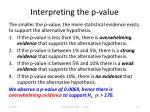 interpreting the p value