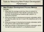 tools for measuring new product development performance23