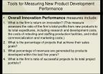 tools for measuring new product development performance24