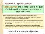 appendix 2c special journals