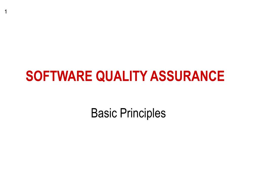 software quality assurance l.