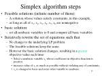 simplex algorithm steps