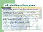 individual stress management