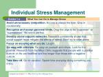 individual stress management20