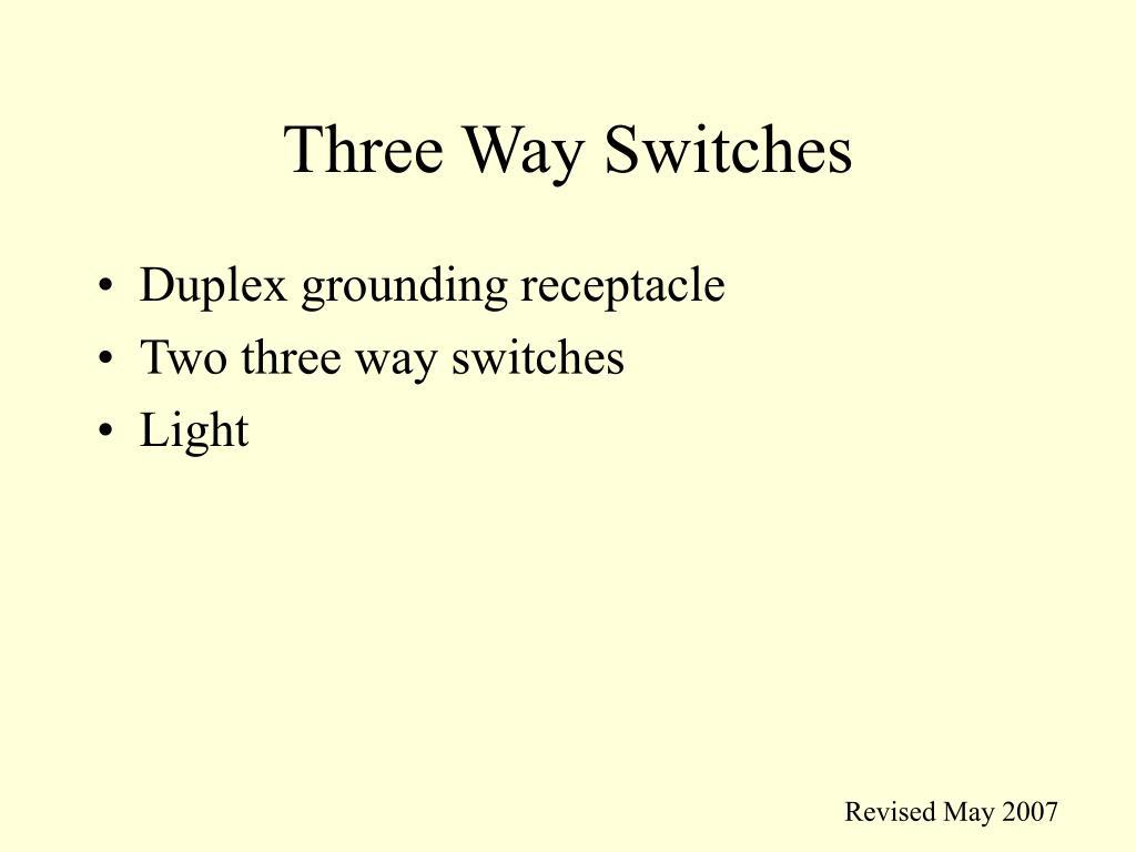 three way switches l.